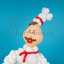 "Фото №3: Фигура из шаров ""Шеф-повар"""