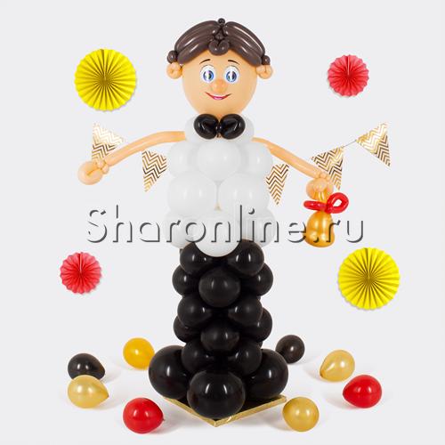 """Фото №1: Фигура из шаров """"Школьник"""""""