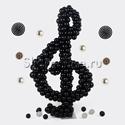 """Фото №1: Фигура из шаров """"Скрипичный ключ"""""""
