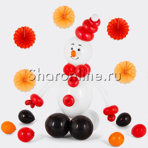 "Фото №2: Фигура из шаров ""Снеговичок"""