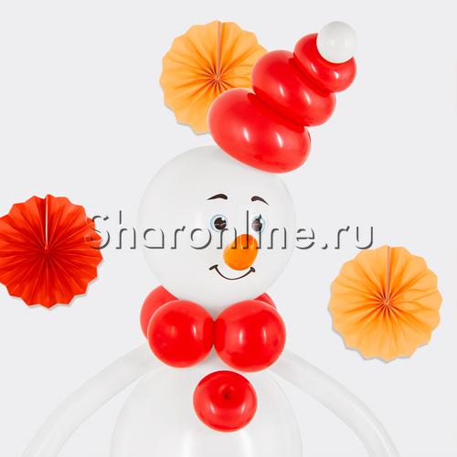 "Фото №3: Фигура из шаров ""Снеговичок"""