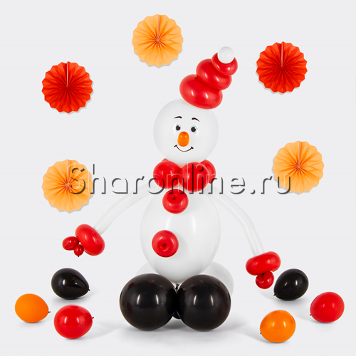 "Фото №1: Фигура из шаров ""Снеговичок"""