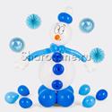 """Фото №1: Фигура из шаров """"Снеговик"""""""