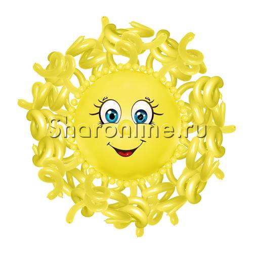 """Фото №1: Фигура из шаров """"Солнышко"""" большое"""