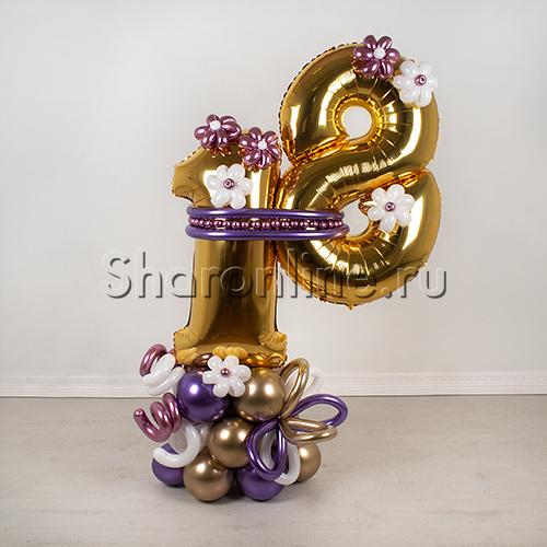 """Фото №2: Фигура из шаров """"Важная дата"""""""