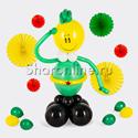 """Фото №1: Фигура из шаров """"Забавный солдат"""""""