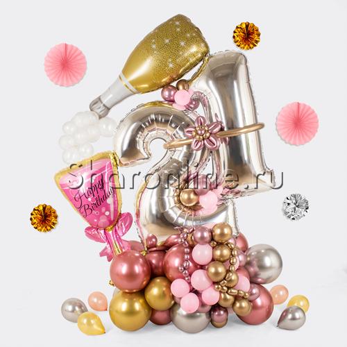 """Фото №1: Композиция из шаров """"Заветная дата"""""""