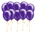 Фото №1: Фиолетовые шары металлик