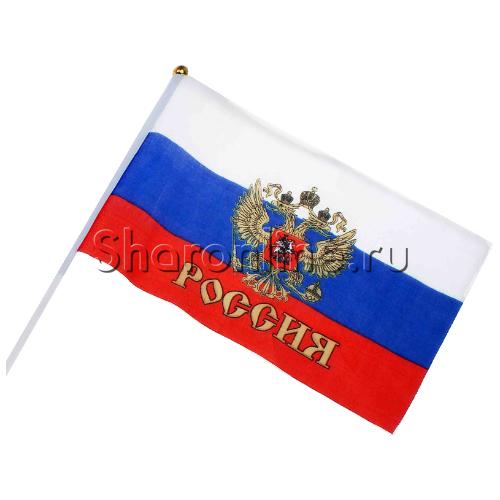 """Фото №1: Флаг """"Россия"""" 20х30 см"""