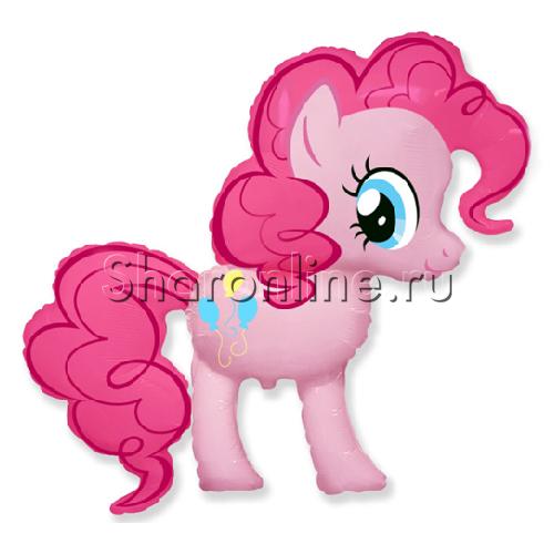 """Фото №1: Фольгированный шар """"Пони"""" розовый 102 см"""