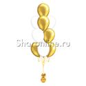 Фото №1: Фонтан из 10 бело-золотых шаров