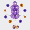 Фото №1: Фонтан из 10 фиолетовых шаров металлик