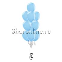 Фонтан из 10 голубых шаров