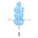 Фото №2: Фонтан из 10 голубых шаров