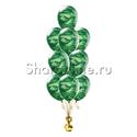 Фото №1: Фонтан из 10 камуфляжных шаров