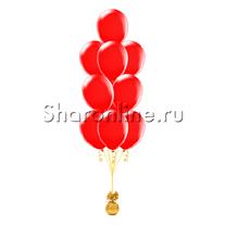 Фонтан из 10 красных шаров