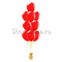 Фото №2: Фонтан из 10 красных шаров