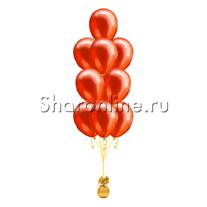 Фонтан из 10 красных шаров металлик