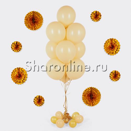 Фото №1: Фонтан из 10 кремовых шаров