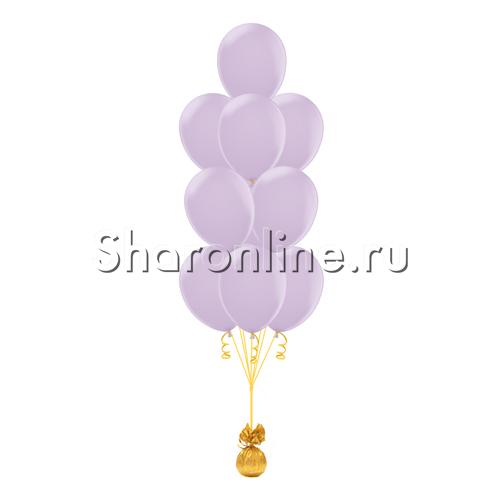 """Фото №1: Фонтан из 10 лиловых шаров """"Макаронс"""""""
