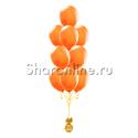 Фото №1: Фонтан из 10 оранжевых шаров