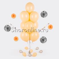 Фонтан из 10 персиковых шаров