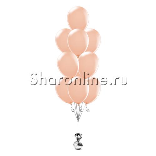 Фото №2: Фонтан из 10 персиковых шаров