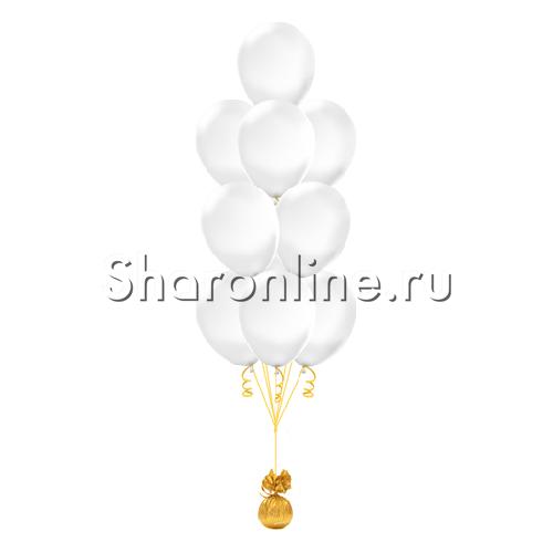 Фото №1: Фонтан из 10 прозрачных шаров