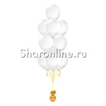 Фонтан из 10 прозрачных шаров