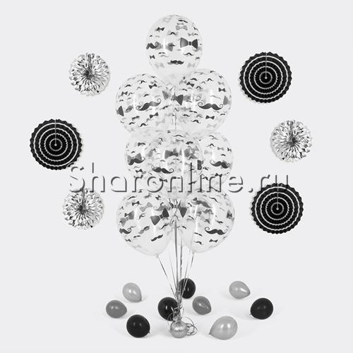 """Фото №1: Фонтан из 10 прозрачных шаров """"Джентльмен"""""""