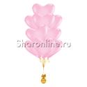 Фото №2: Фонтан из 10 розовых сердец премиум 41 см