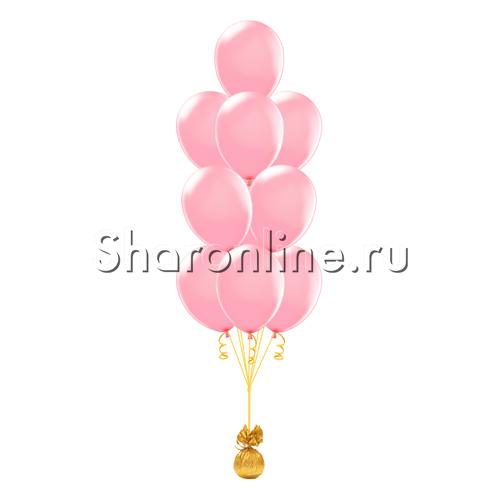 Фото №1: Фонтан из 10 розовых шаров
