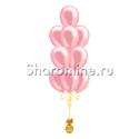 Фото №2: Фонтан из 10 розовых шаров металлик