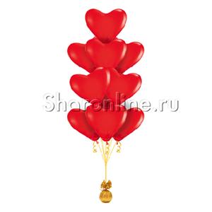 Фонтан шаров из 10 сердец