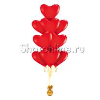 Фонтан из 10 сердец премиум