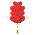 Фото №2: Фонтан из 10 красных сердец премиум 41 см