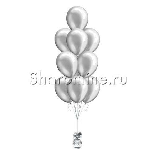 Фото №2: Фонтан из 10 серебряных шаров