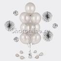 Фото №1: Фонтан из 10 серебряных шаров