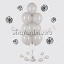 Фото №1: Фонтан из 10 серых шаров