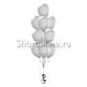 Фото №2: Фонтан из 10 серых шаров