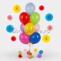 Фото №1: Фонтан из 10 шаров ассорти