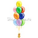 Фото №2: Фонтан из 10 шаров ассорти металлик