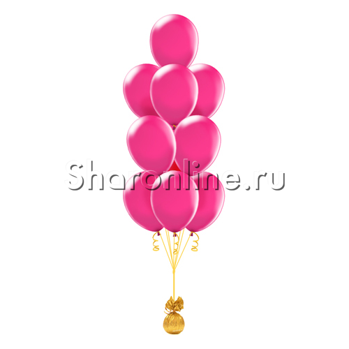 Фото №2: Фонтан из 10 шаров цвета фуксия