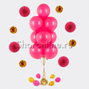 Фото №1: Фонтан из 10 шаров цвета фуксия