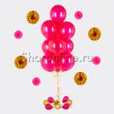 Фото №1: Фонтан из 10 шаров цвета фуксия металлик
