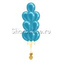 Фото №1: Фонтан из 10 шаров цвета морской волны металлик