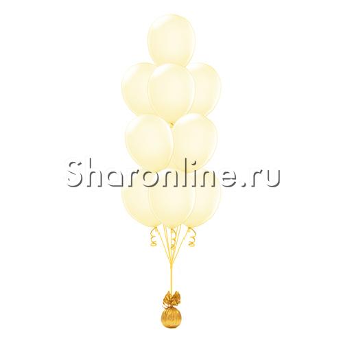 Фото №1: Фонтан из 10 шаров цвета слоновой кости