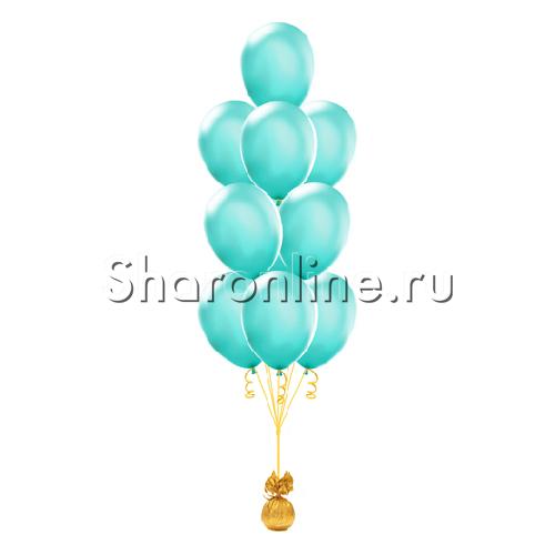 Фото №1: Фонтан из 10 шаров цвета тиффани