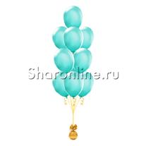 Фонтан из 10 шаров цвета тиффани
