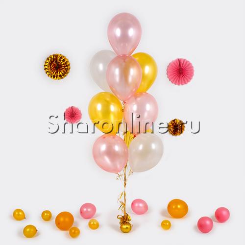 Фото №1: Фонтан из 10 шаров фантазия
